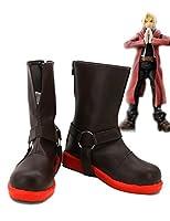 Fullmetal Alchemist Edward Elricコスプレ靴ブーツカスタムMade 1 9.5 D(M) US Male ブラウン