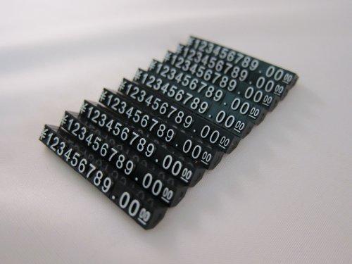 Tick Nick プライスキューブ プライスブロック プライスタグ 黒本体 白 金 文字 10セット (Mサイズ 白文字)