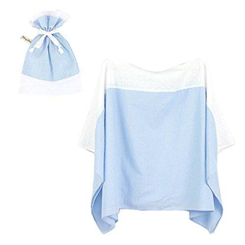 アビックス マミールナ ポンチョ型授乳ケープ(レース付き) フリー ブルー 平織 879429