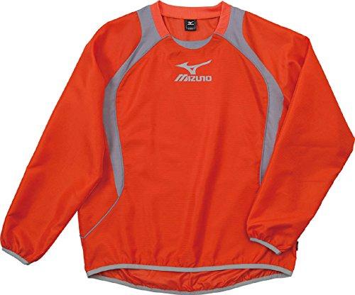 (ミズノ)MIZUNO フットボール ウインドブレーカーシャツ 62WS270 55 オレンジ×グレー L