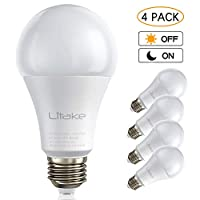 Litake LED 夕暮れから夜明けまでのセンサー電球