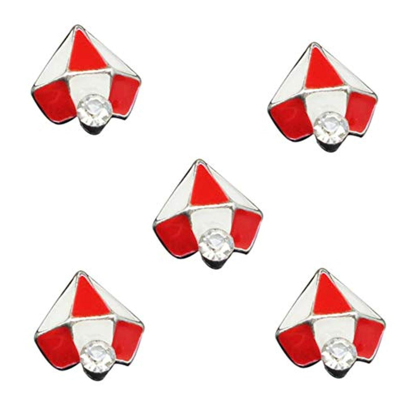 パズル差し控える数学的な10PCSの3Dグリッタージュエリーレッドダイヤモンドデザインネイルアートジェルステッカーの接着剤のラインストーンネイルマニキュアスタイリングツールのために