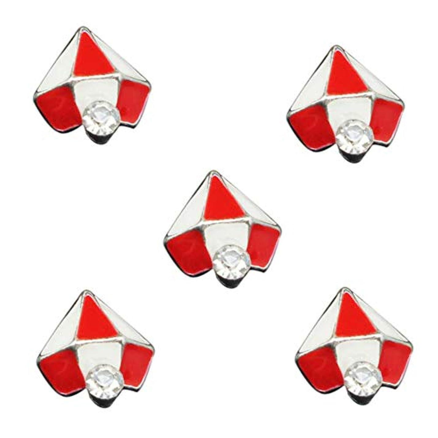 除去全部サイズ10PCSの3Dグリッタージュエリーレッドダイヤモンドデザインネイルアートジェルステッカーの接着剤のラインストーンネイルマニキュアスタイリングツールのために