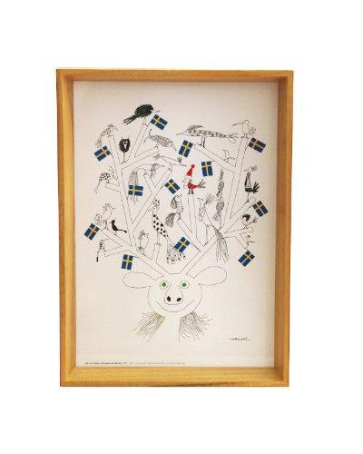 RoomClip商品情報 - 【8/10マークダウン】Olle Eksell(オーレ エクセル) アートパネル ワンサイズ Reindeer and Birds