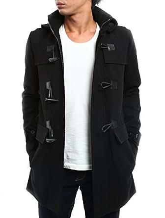 インプローブス ダッフルコート メルトン アウター ダッフル コート ジャケット メンズ ブラック S サイズ