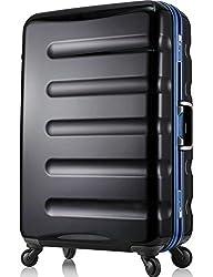 レジェンドウォーカー スーツケース 静音キャスター TSAロック 一年保証 ブラック・ブルー MLサイズ-66cm