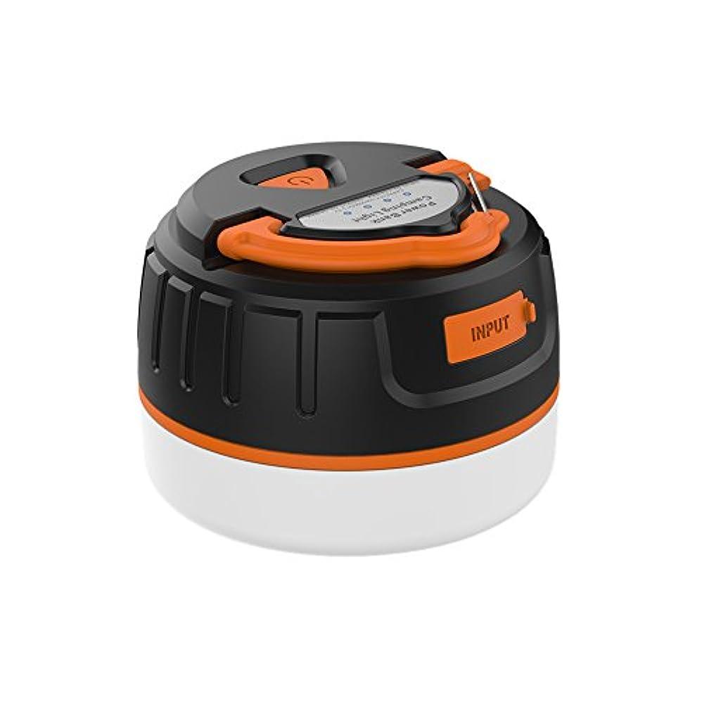 キャンプレース任命するLEDランタン 照明道具 屋外ライト 高輝度 防水 5200MAH マグネット式 吊り下げフック付き USB充電 キャンプ用品 Moobom