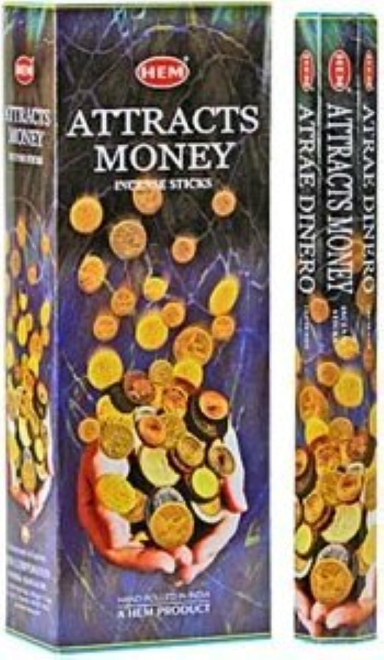やさしく作曲家エイズHem Attracts Money – Atrae Dinero – Incense Sticks – 4六角チューブ(80 Sticks)