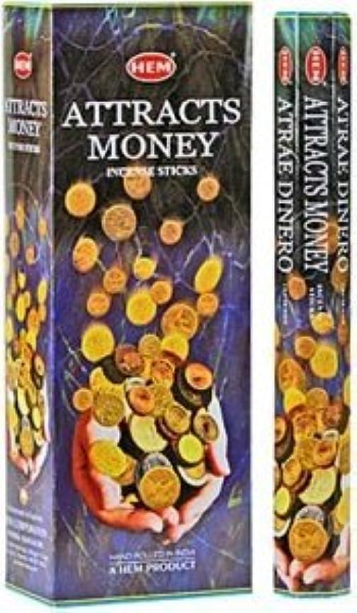 テザーその他冷えるHem Attracts Money – Atrae Dinero – Incense Sticks – 4六角チューブ(80 Sticks)
