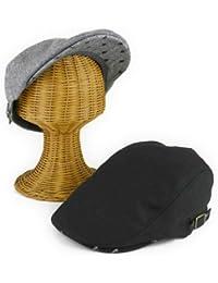 ノーブランド品 ツバ裏久留米カスリメルトンハンチング ヤング帽子