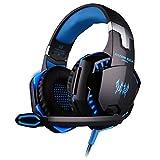 KOTION EACH G2000 Over-ear Game Gaming Headphone Headset Earphone Headband with Mic Stereo Bass LED