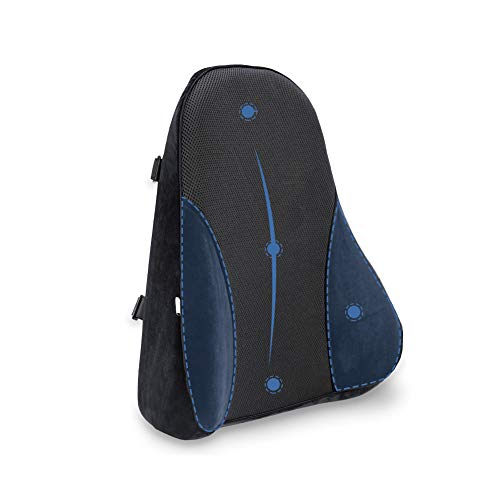 ASHATA ランバーサポート 腰枕 低反発クッション 車用 健康クッション 背当て 腰痛対策 姿勢矯正 オフィス 椅子 ドライブ用 腰まくら リラックスクッション カバー洗える 高密度 ROHS安全基準クリア ブラック