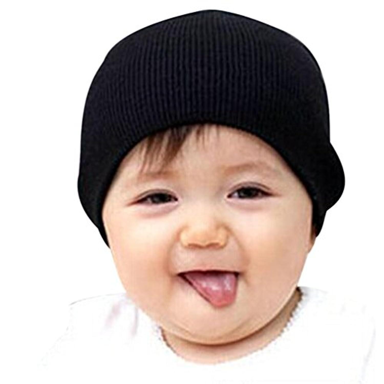 winhurnベビービーニーBoy Girlsソフト帽子子供冬暖かいキッズキャップ