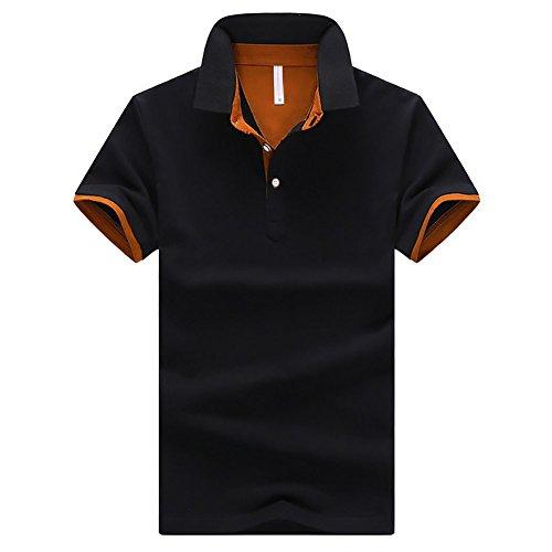 CEEN メンズ ポロシャツ ボタンダウン 半袖 重ね着スタイル カジュアル シンプル 襟付き ファッシ...