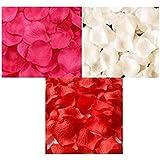 ポの屋 フラワーシャワー バラ 花びら 赤 ピンク 白 3色 900枚セット 誕生日 結婚式 二次会 パーティー 演出 お祝い 撮影