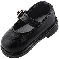 SONONIA 1/6 BJD SD DOD ドルフィー 人形の靴 2足 PUレザー シューズ アクセサリー プレゼント 全5色選べ - 黒