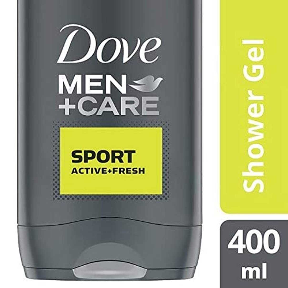 対抗ぐるぐる請負業者[Dove ] 鳩の男性+ケアスポーツアクティブ&フレッシュボディウォッシュ400ミリリットル - Dove Men + Care Sport Active & Fresh Bodywash 400ml [並行輸入品]