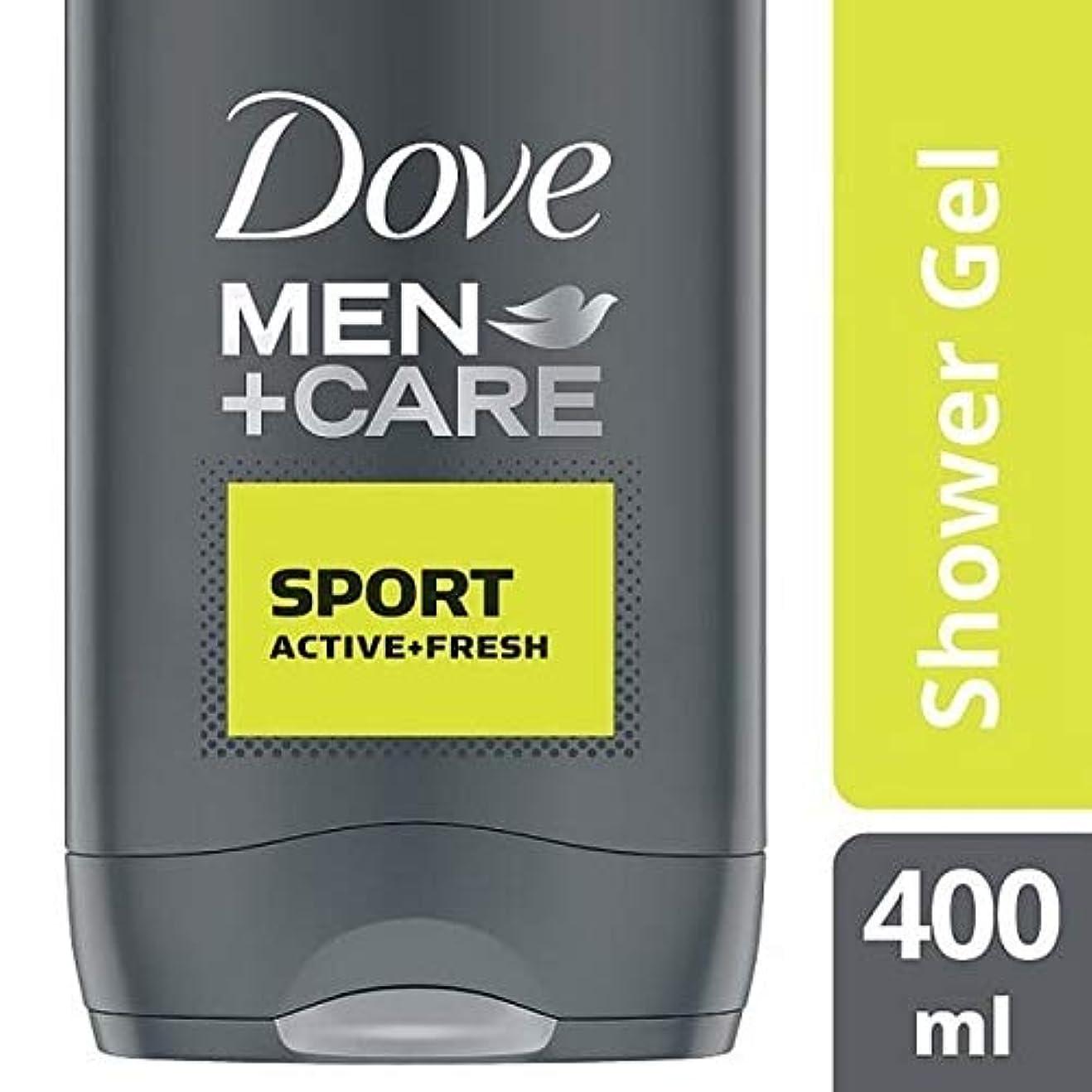 非武装化蒸留革命的[Dove ] 鳩の男性+ケアスポーツアクティブ&フレッシュボディウォッシュ400ミリリットル - Dove Men + Care Sport Active & Fresh Bodywash 400ml [並行輸入品]