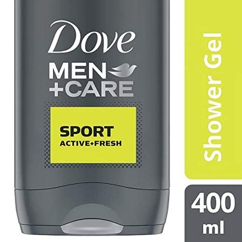 膨らませる筋ブラウン[Dove ] 鳩の男性+ケアスポーツアクティブ&フレッシュボディウォッシュ400ミリリットル - Dove Men + Care Sport Active & Fresh Bodywash 400ml [並行輸入品]