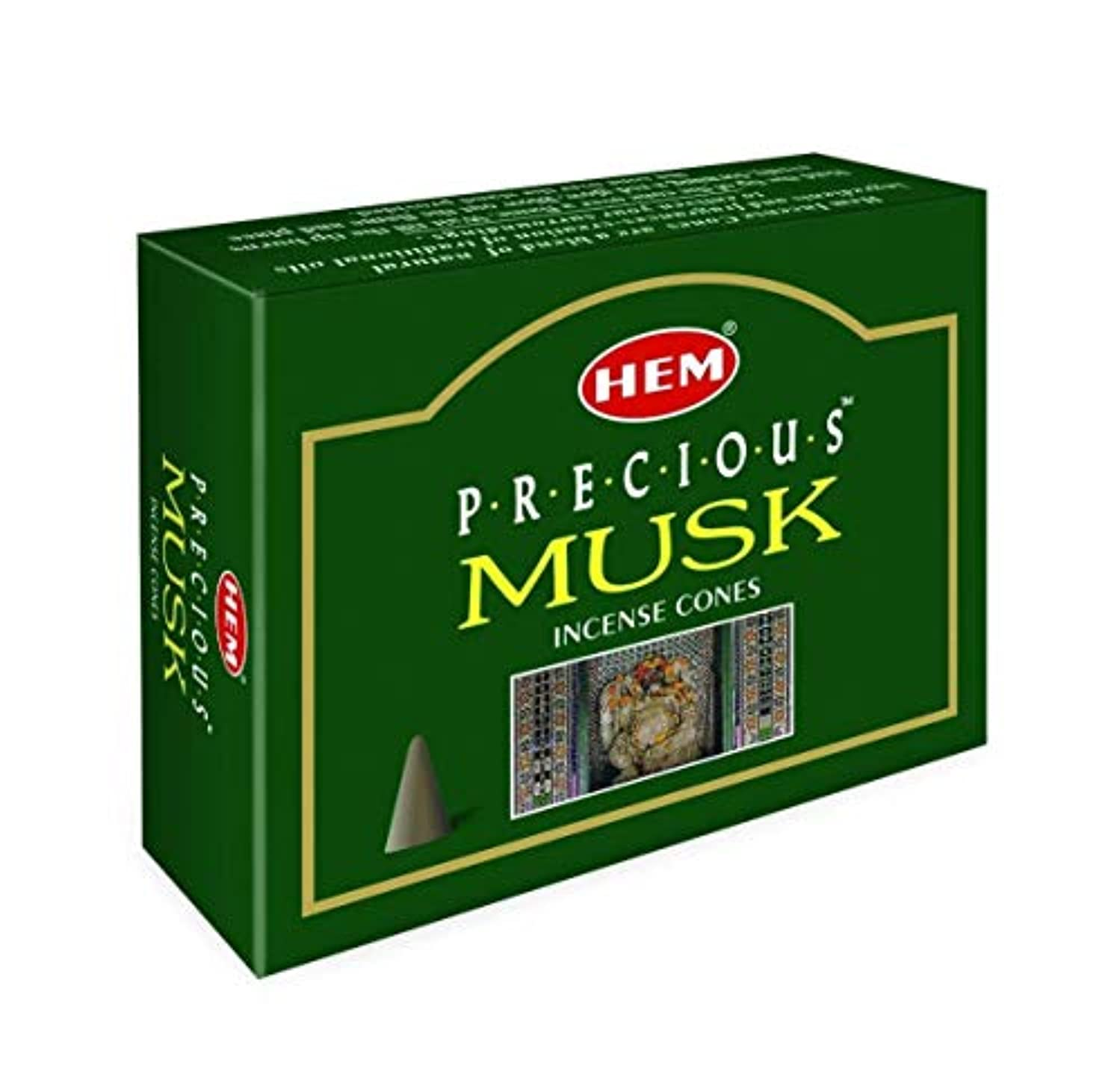 申し立てる引くなしでHEM(ヘム) プレシャスムスク香 コーンタイプ PRECIOUS MUSK CORN 12箱セット