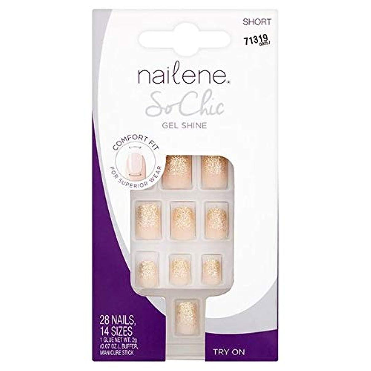 決定するシャンパンアクチュエータ[Nailene] Nailene釘ので、シックなゲル輝き - Nailene Nails So Chic Gel Shine [並行輸入品]