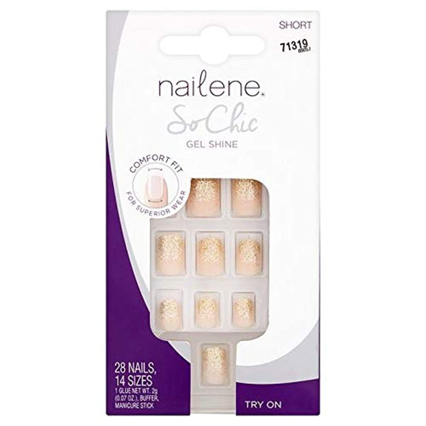 冗談で水っぽい明らかにする[Nailene] Nailene釘ので、シックなゲル輝き - Nailene Nails So Chic Gel Shine [並行輸入品]