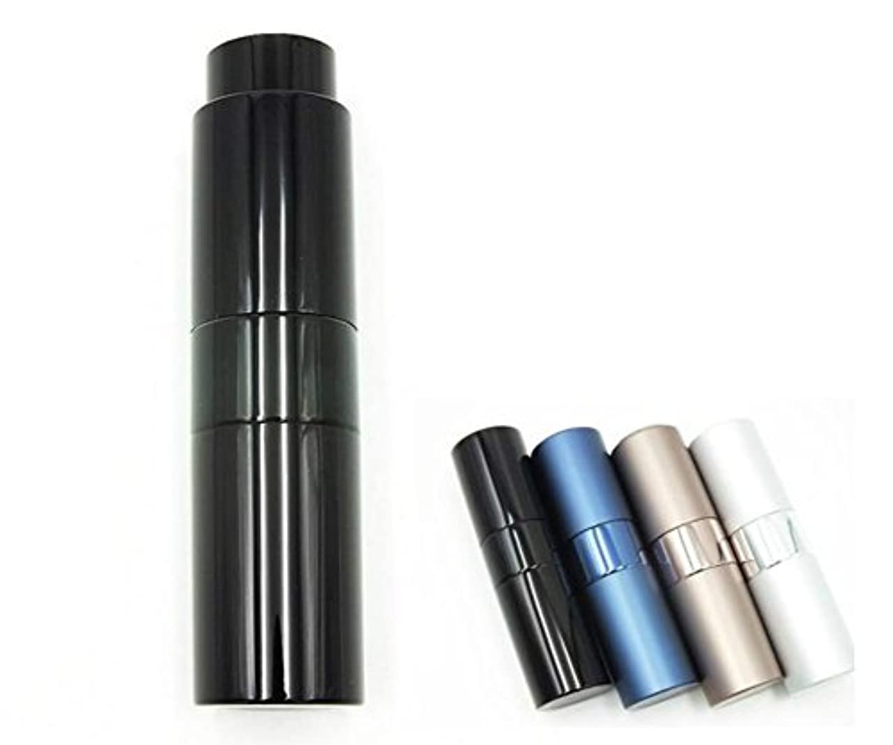 テキスト排泄物適性ShopXJ 香水 メンズ アトマイザー 大人 男性 プッシュ式 詰め替え 持ち運び 身だしなみ 携帯用 15ml (ブラック)