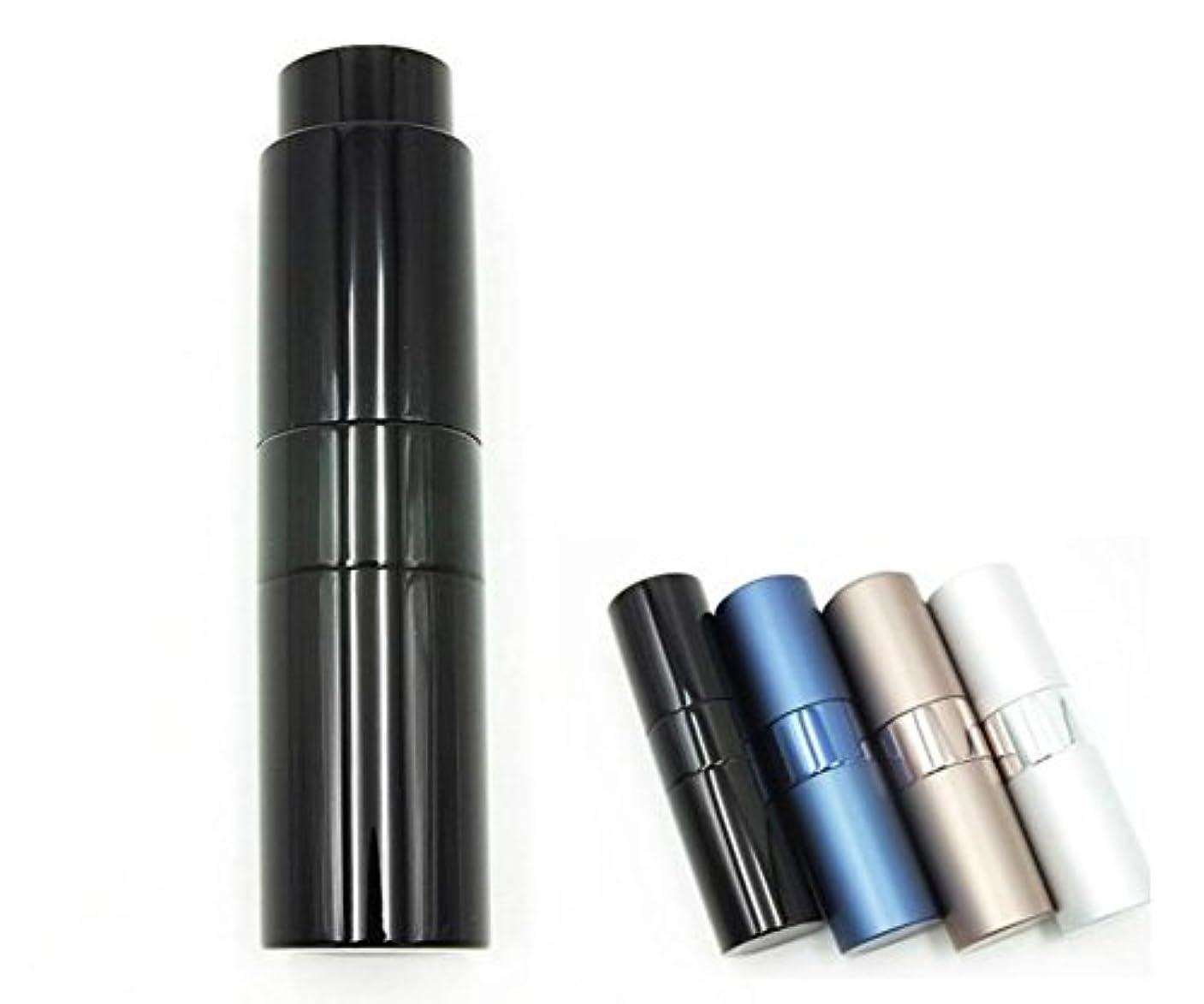 操作ものShopXJ 香水 メンズ アトマイザー 大人 男性 プッシュ式 詰め替え 持ち運び 身だしなみ 携帯用 15ml (ブラック)
