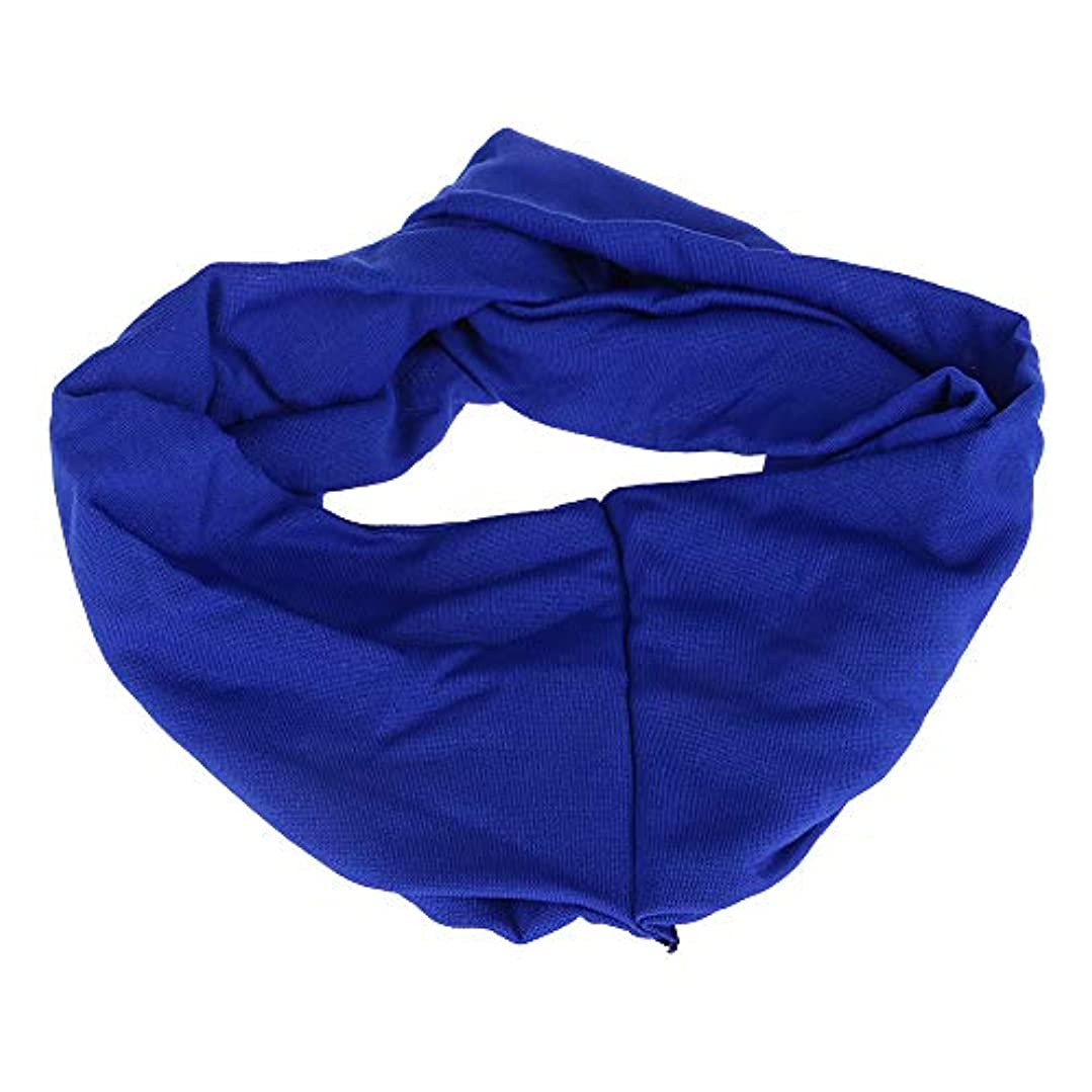 禁止怖がって死ぬ版女子 ヘアリボン ワイドヘッドバンド キャンディーカラー ポリ+コットンブレンド スポーツ ブルー
