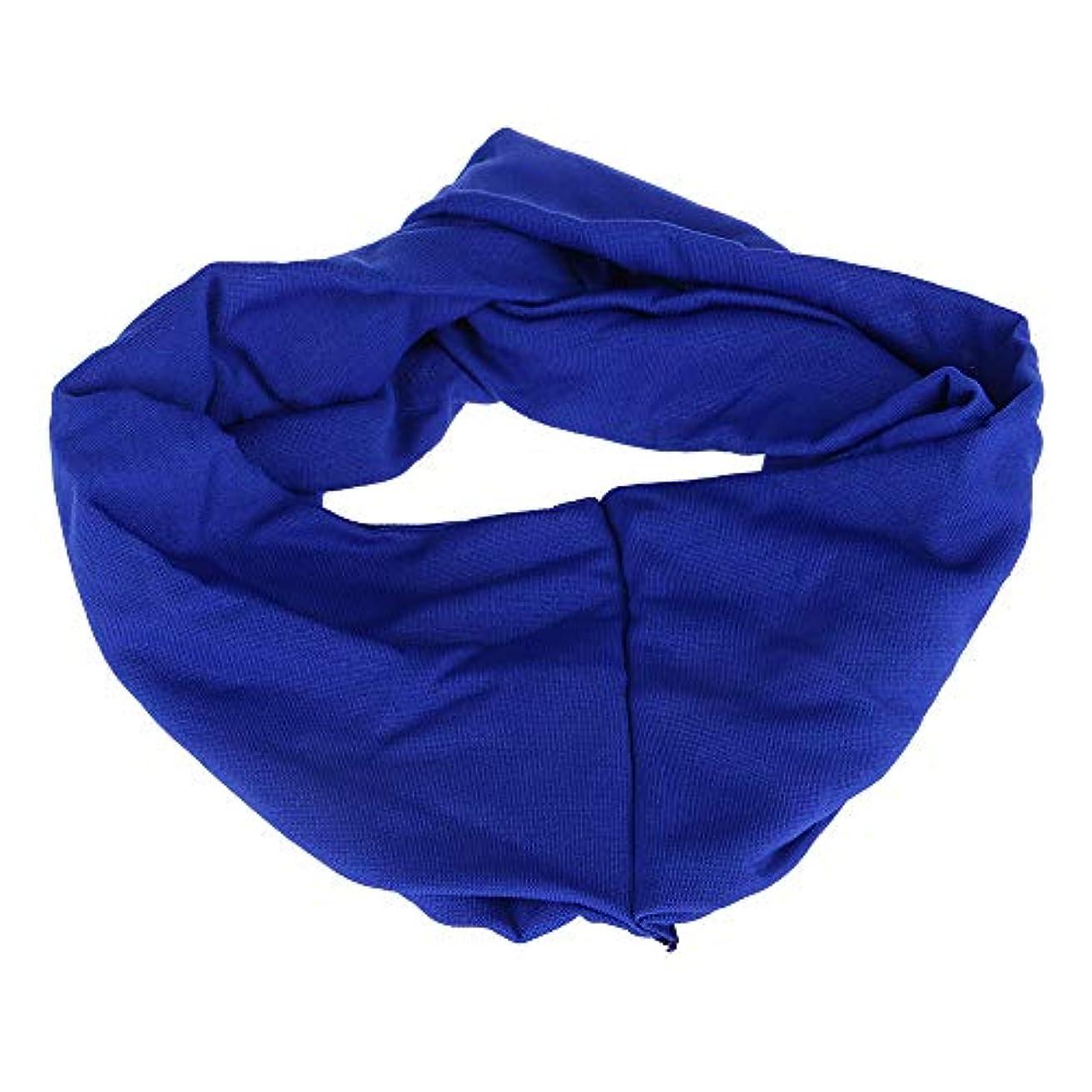 修羅場警察署出力女子 ヘアリボン ワイドヘッドバンド キャンディーカラー ポリ+コットンブレンド スポーツ ブルー