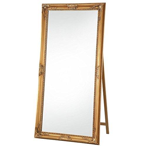 RoomClip商品情報 - 【大型全身鏡】【180×90cm】 アンティーク調 飛散防止加工 かがみ ミラー 姿見 ゴールド