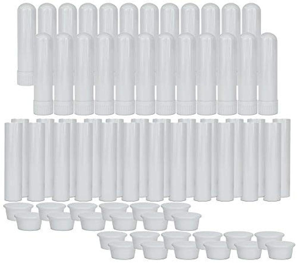 払い戻しもちろん前部Essential Oil Aromatherapy Blank Nasal Inhaler Tubes (24 Complete Sticks), Empty Nasal Inhalers for Essential...