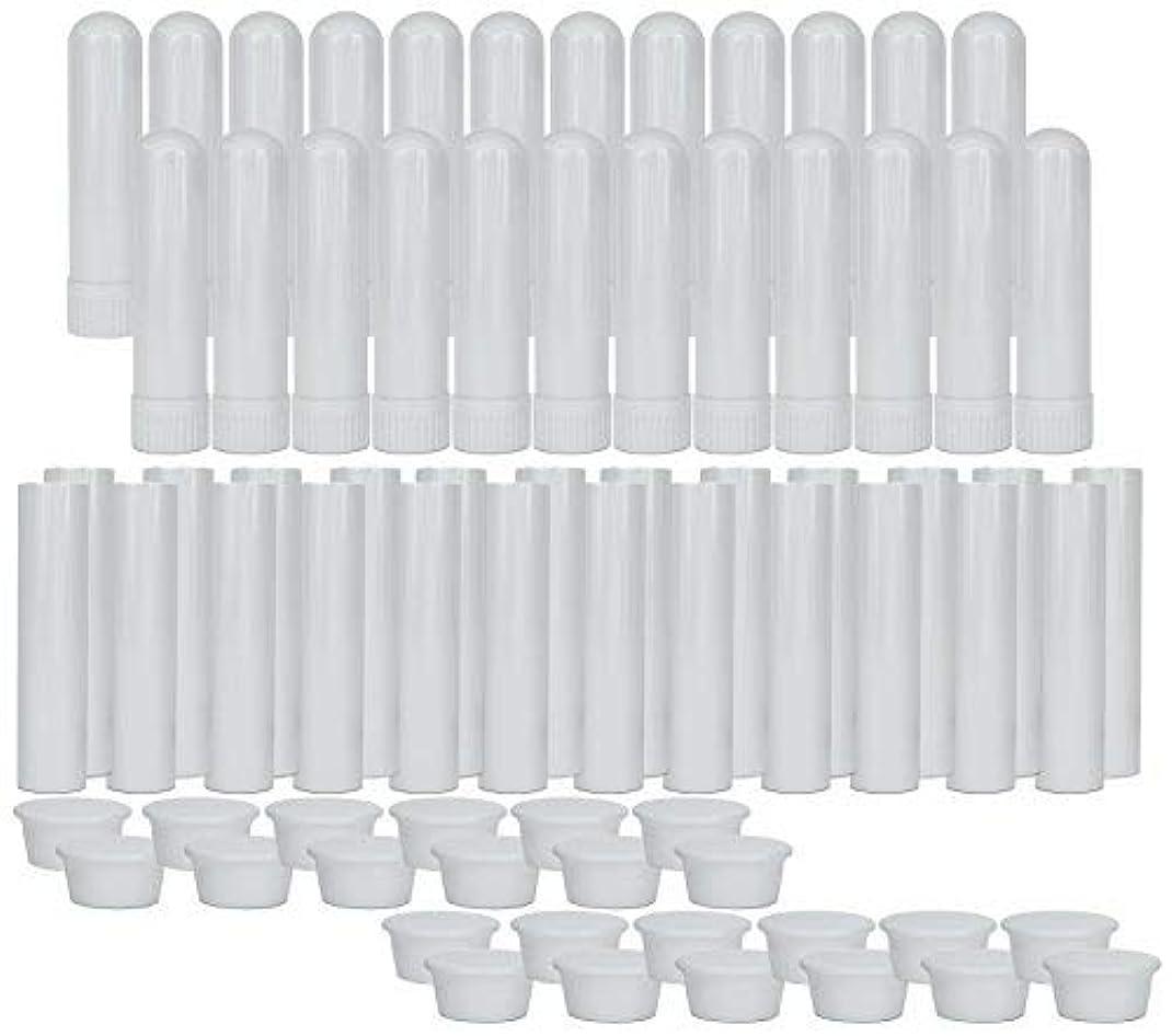 施設受粉者言語学Essential Oil Aromatherapy Blank Nasal Inhaler Tubes (24 Complete Sticks), Empty Nasal Inhalers for Essential...