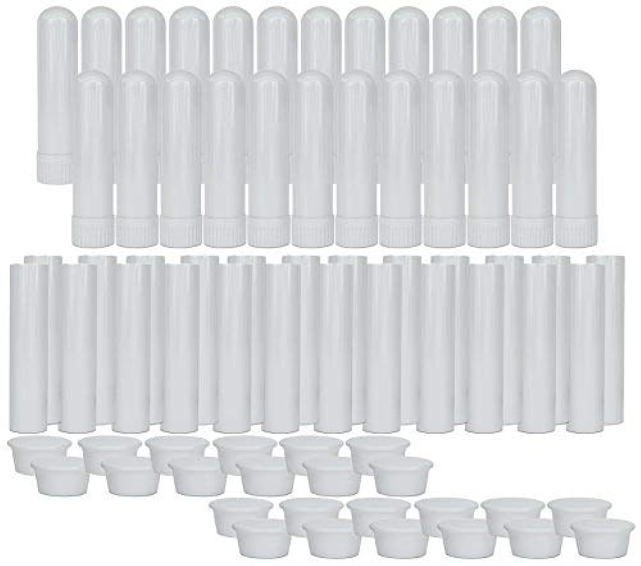 スポンサー定規アサートEssential Oil Aromatherapy Blank Nasal Inhaler Tubes (24 Complete Sticks), Empty Nasal Inhalers for Essential...