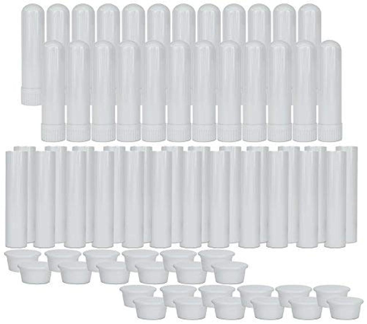 覗く切断するホバートEssential Oil Aromatherapy Blank Nasal Inhaler Tubes (24 Complete Sticks), Empty Nasal Inhalers for Essential...