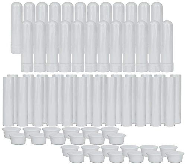 Essential Oil Aromatherapy Blank Nasal Inhaler Tubes (24 Complete Sticks), Empty Nasal Inhalers for Essential...