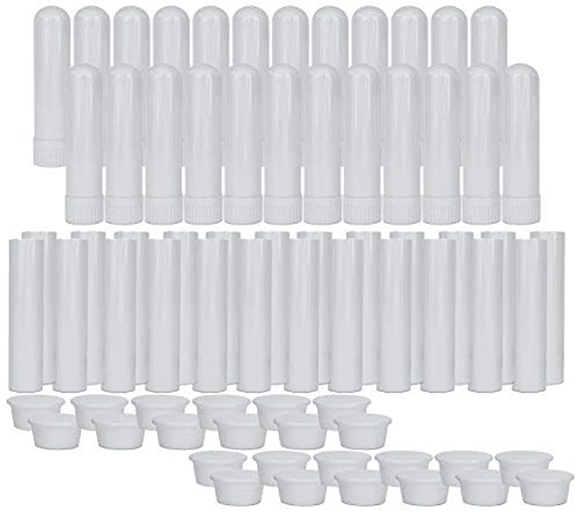 Essential Oil Aromatherapy Blank Nasal Inhaler Tubes (24 Complete Sticks), Empty Nasal Inhalers for Essential...
