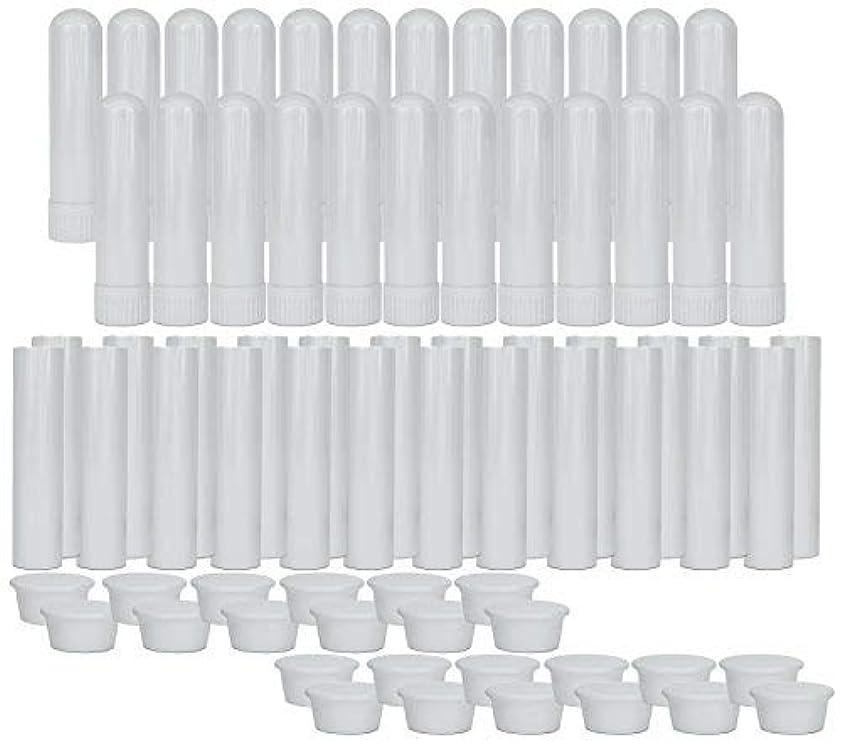 学習者オフェンス欠員Essential Oil Aromatherapy Blank Nasal Inhaler Tubes (24 Complete Sticks), Empty Nasal Inhalers for Essential...