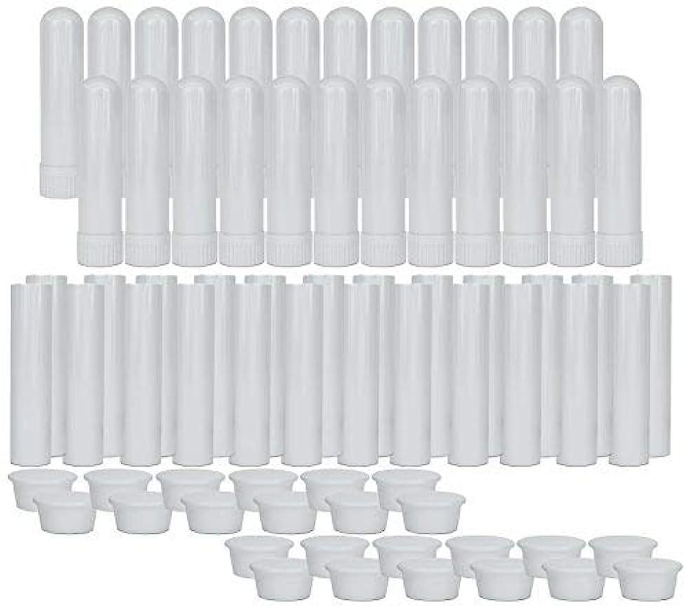 丘突破口メンタルEssential Oil Aromatherapy Blank Nasal Inhaler Tubes (24 Complete Sticks), Empty Nasal Inhalers for Essential...
