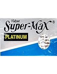 Super-Max Platinum 両刃替刃 5枚入り(5枚入り1 個セット)【並行輸入品】