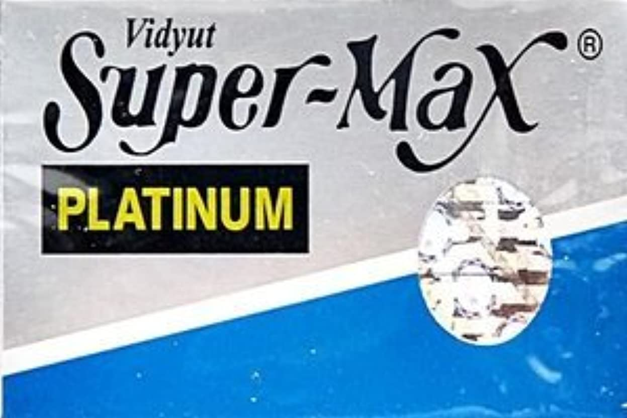 悪化する確かめるアーティキュレーションSuper-Max Platinum 両刃替刃 5枚入り(5枚入り1 個セット)【並行輸入品】