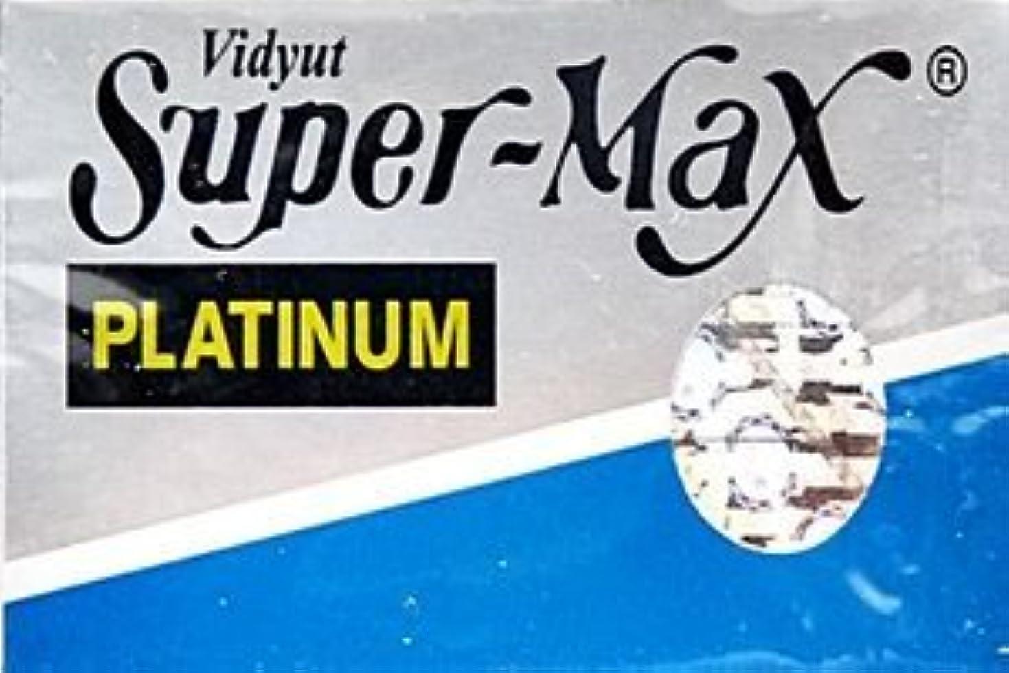 おじさん新鮮な撃退するSuper-Max Platinum 両刃替刃 5枚入り(5枚入り1 個セット)【並行輸入品】