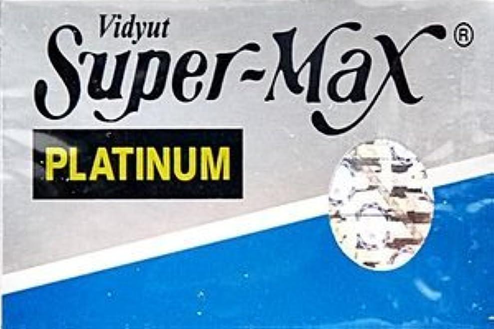 民主主義それら凶暴なSuper-Max Platinum 両刃替刃 5枚入り(5枚入り1 個セット)【並行輸入品】