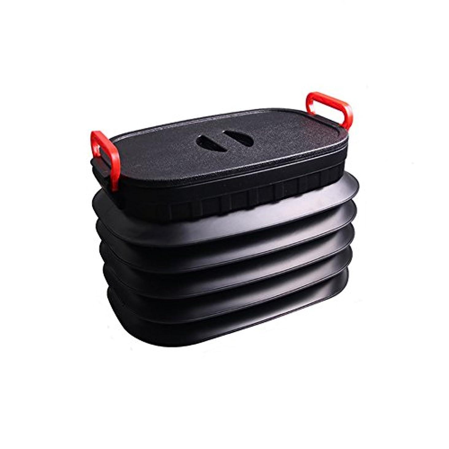 伝説堀なめらかなGSOU SNOW 折り畳みバケツ 大容量バケツ 18L/25L/37L 伸縮式 収納ボックス 車内用 キャンプ用 釣り用 小物入れ 蓋付き