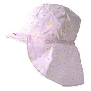 [カジュアルボックス] ベビー帽子 UVカット SARA コットン バオバブ キャップ 日本製 Sサイズ フラワーピンク