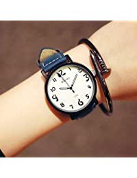 ZooooM ユニーク シンプル デザイン 文字盤 アナログ ウォッチ 腕 時計 ファッション アクセサリー おもしろ カジュアル メンズ レディース 男性 女性 男 女 兼 用 ( ブルー ) ZM-WATCH2-864-BL