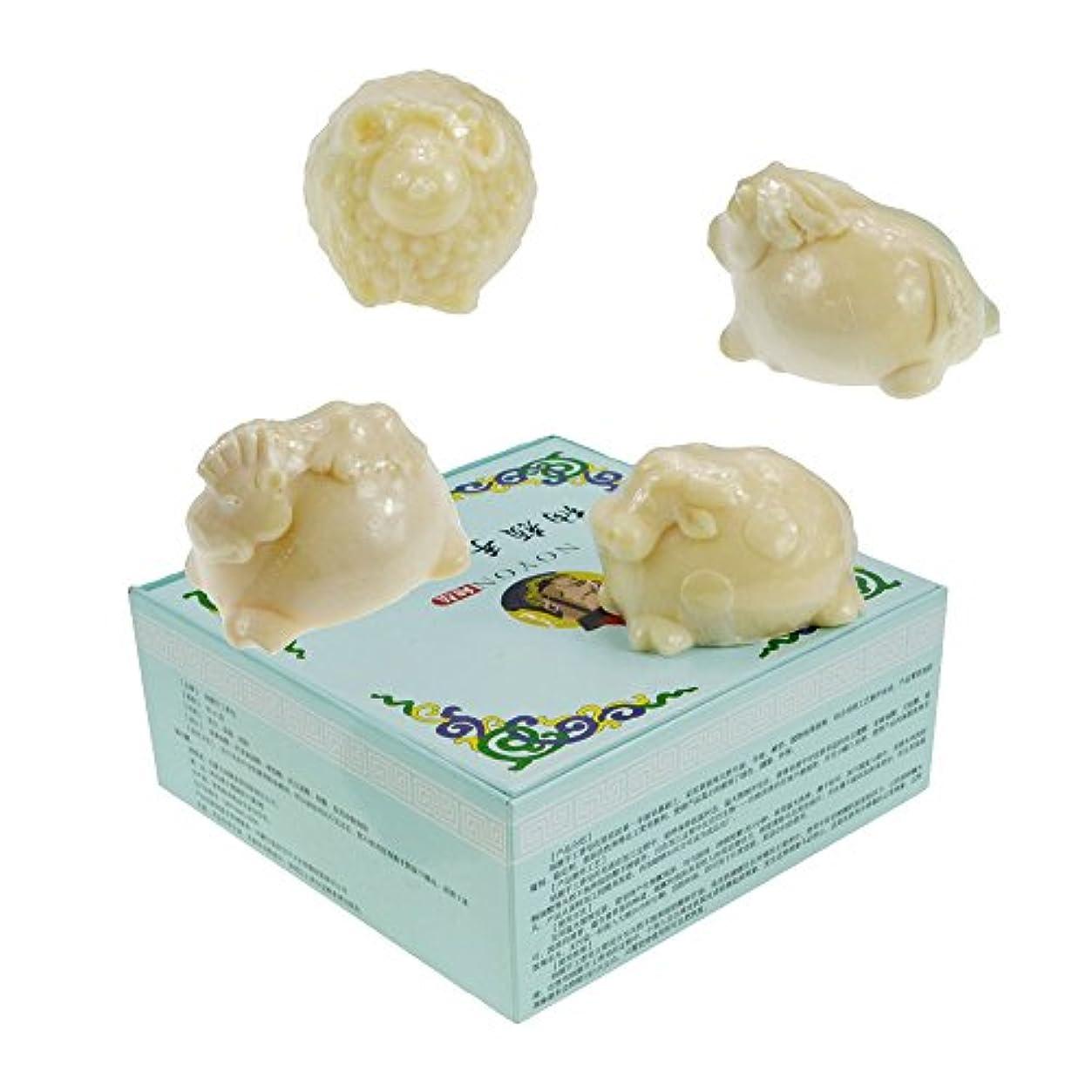 出発に慣れ安全手作り石鹸 無添加 洗顔石鹸 ラクダミルク石鹸(牧草動物の羊、牛、馬、ラクダのスタイリング)石鹸のミルク[4個]