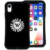 WAYLLY(ウェイリー) iPhone XR ケース アイフォンXRケース くっつくケース 着せ替え 耐衝撃 米軍MIL規格 [ストリート Wロゴ] MK