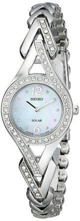 セイコー Seiko Women's SUP173 Jewelry-Solar Classic Silver-Tone Stainless Steel Watch 女性 レディース 腕時計 【並行輸入品】