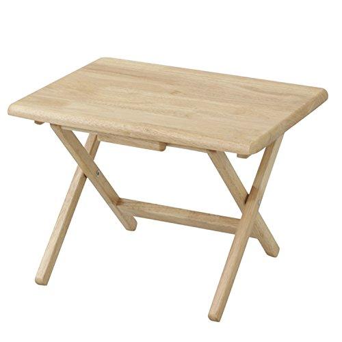山善(YAMAZEN) 折りたたみサイドテーブル(ロータイプ) ナチュラル STR-50L(NA)
